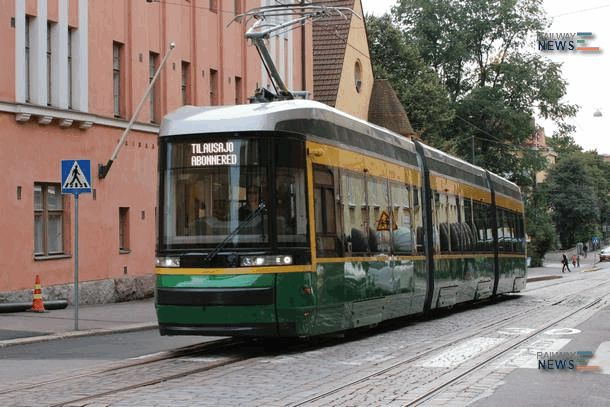 The First Serial Skoda Tramcar Rolled Out at Otanmaki Plant