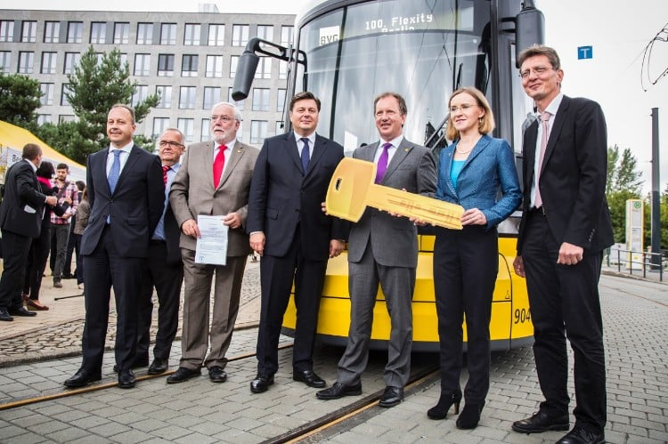 Bombardier Delivered 100th FLEXITY Tram to BVG