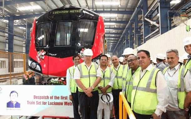 Alstom Delivers First Lucknow Metro Trainset